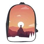 Design Art Hill Hut Landscape School Bag (XL)