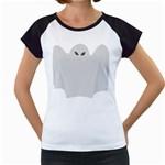 Ghost Halloween Spooky Horror Fear Women s Cap Sleeve T