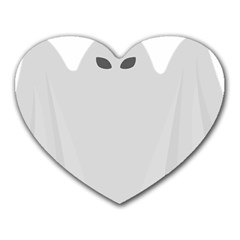 Ghost Halloween Spooky Horror Fear Heart Mousepads from DesignYourOwnGift.com Front