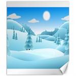 Landscape Winter Ice Cold Xmas Canvas 20  x 24