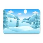 Landscape Winter Ice Cold Xmas Small Doormat