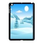 Landscape Winter Ice Cold Xmas Apple iPad Mini Case (Black)