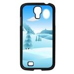 Landscape Winter Ice Cold Xmas Samsung Galaxy S4 I9500/ I9505 Case (Black)