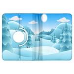 Landscape Winter Ice Cold Xmas Kindle Fire HDX Flip 360 Case