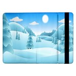 Landscape Winter Ice Cold Xmas Samsung Galaxy Tab Pro 12.2  Flip Case