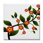 Flower Branch Nature Leaves Plant Tile Coasters