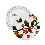 Flower Branch Nature Leaves Plant 2.25  Buttons