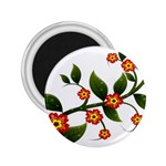 Flower Branch Nature Leaves Plant 2.25  Magnets