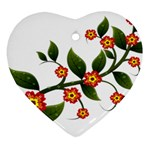 Flower Branch Nature Leaves Plant Ornament (Heart)