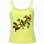 Flower Branch Nature Leaves Plant Yellow Spaghetti Tank