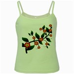 Flower Branch Nature Leaves Plant Green Spaghetti Tank