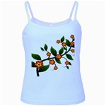 Flower Branch Nature Leaves Plant Baby Blue Spaghetti Tank