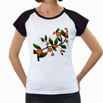 Flower Branch Nature Leaves Plant Women s Cap Sleeve T