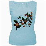 Flower Branch Nature Leaves Plant Women s Baby Blue Tank Top