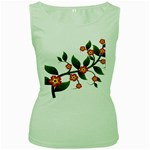 Flower Branch Nature Leaves Plant Women s Green Tank Top