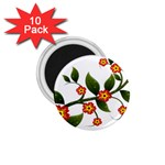 Flower Branch Nature Leaves Plant 1.75  Magnets (10 pack)
