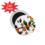 Flower Branch Nature Leaves Plant 1.75  Magnets (100 pack)
