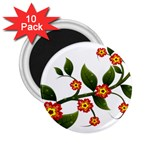 Flower Branch Nature Leaves Plant 2.25  Magnets (10 pack)