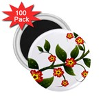 Flower Branch Nature Leaves Plant 2.25  Magnets (100 pack)