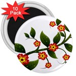 Flower Branch Nature Leaves Plant 3  Magnets (10 pack)