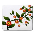 Flower Branch Nature Leaves Plant Large Mousepads
