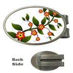 Flower Branch Nature Leaves Plant Money Clips (Oval)