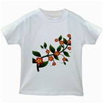 Flower Branch Nature Leaves Plant Kids White T-Shirts