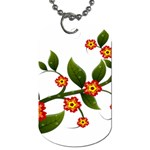 Flower Branch Nature Leaves Plant Dog Tag (One Side)