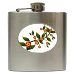 Flower Branch Nature Leaves Plant Hip Flask (6 oz)
