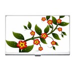 Flower Branch Nature Leaves Plant Business Card Holders