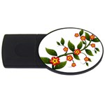 Flower Branch Nature Leaves Plant USB Flash Drive Oval (2 GB)