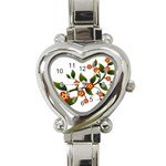 Flower Branch Nature Leaves Plant Heart Italian Charm Watch