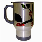 Flower Branch Nature Leaves Plant Travel Mug (Silver Gray)
