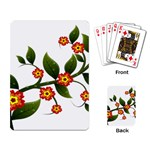 Flower Branch Nature Leaves Plant Playing Card
