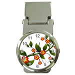 Flower Branch Nature Leaves Plant Money Clip Watches