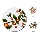 Flower Branch Nature Leaves Plant Playing Cards (Round)