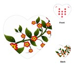 Flower Branch Nature Leaves Plant Playing Cards (Heart)
