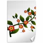 Flower Branch Nature Leaves Plant Canvas 12  x 18