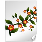 Flower Branch Nature Leaves Plant Canvas 18  x 24