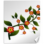 Flower Branch Nature Leaves Plant Canvas 20  x 24