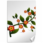 Flower Branch Nature Leaves Plant Canvas 20  x 30