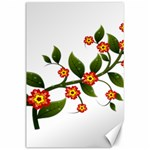 Flower Branch Nature Leaves Plant Canvas 24  x 36