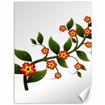 Flower Branch Nature Leaves Plant Canvas 36  x 48