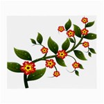 Flower Branch Nature Leaves Plant Small Glasses Cloth (2-Side)