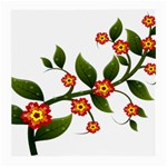 Flower Branch Nature Leaves Plant Medium Glasses Cloth (2-Side)