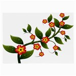 Flower Branch Nature Leaves Plant Large Glasses Cloth (2-Side)