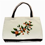 Flower Branch Nature Leaves Plant Basic Tote Bag (Two Sides)
