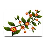 Flower Branch Nature Leaves Plant Small Doormat