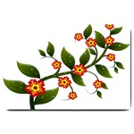 Flower Branch Nature Leaves Plant Large Doormat