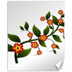 Flower Branch Nature Leaves Plant Canvas 11  x 14